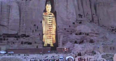 Tallest Buddha Statue of Afghanistan Revived by lasers