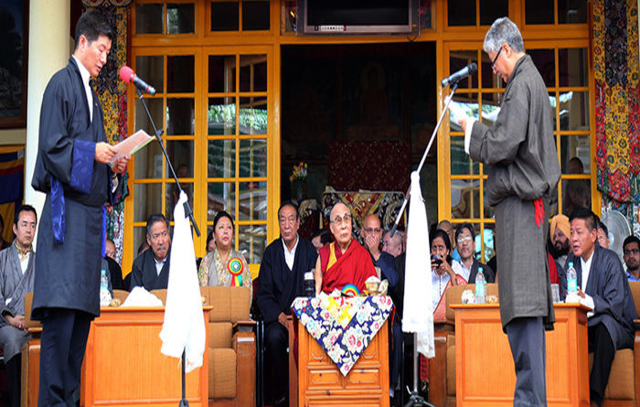 His Holiness Witnessed The Oath Taking Ceremony Of Sikyong Dr. Lobsang Sangay