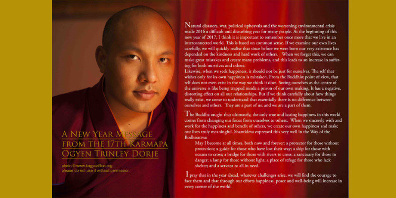 The Karmapa's 2017 New Year Message