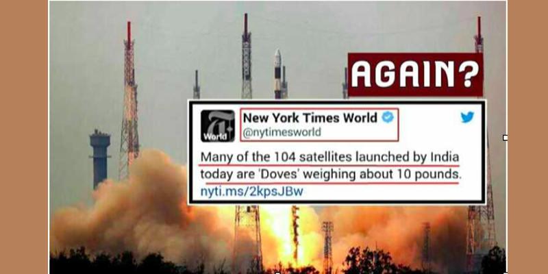 New York Times Mocks India's Record Setting 104 Satellites Launch