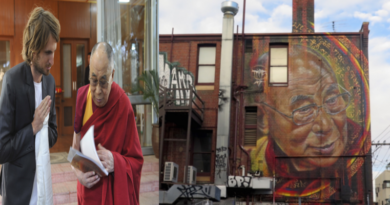 Australian Artist Paints Dalai Lama On A Building In Melbourne