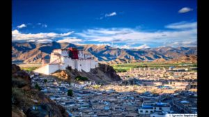Lhasa Palace in Tibet. It has been the capital of Tibet until 1952