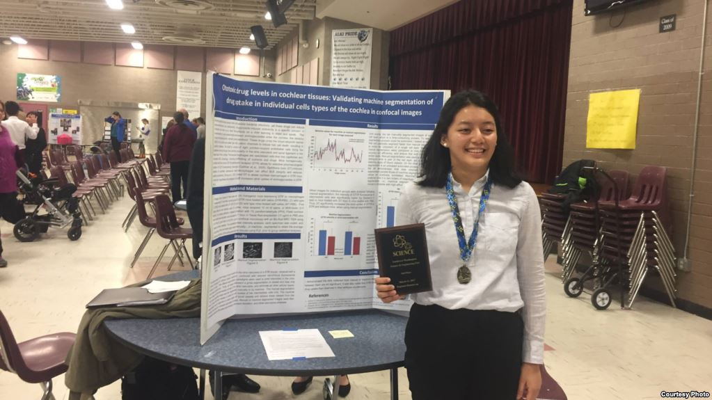 Tsering Shola, 15, finished second overall out of 22 categories in the competition, and earned a paid trip and a spot in the Intel International Science Fair.