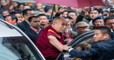 Dalai Lama Arrives In Arunachal Pradesh By Car
