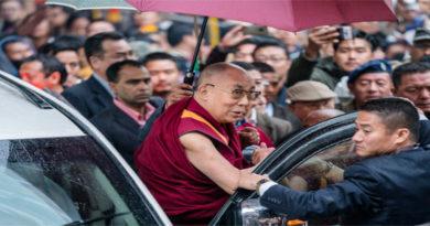 Dalai Lama Arrives In Arunachal Pradesh By Car