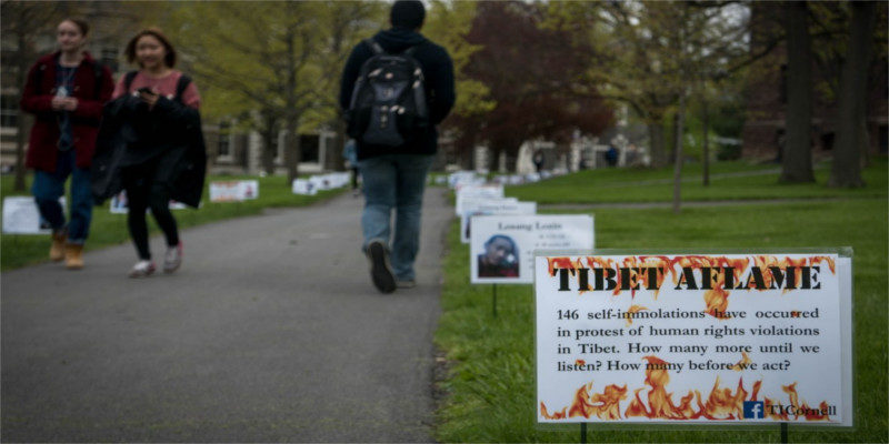 Removed Pro-Tibet Placards Return To US University Campus