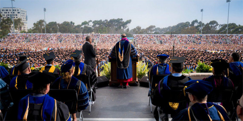 Dalai Lama Delivered Public Talk And Commencement Speech At UCSD