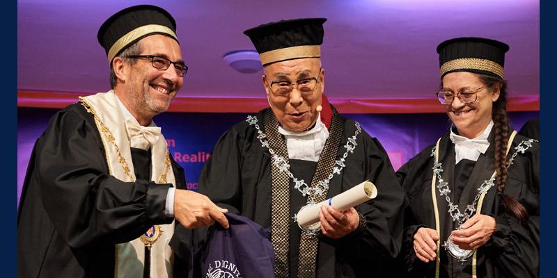 Dalai Lama Conferred Honorary Degree By University Of Pisa