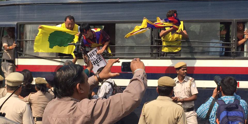 50 Tibetans Detained Protesting At Chinese Embassy