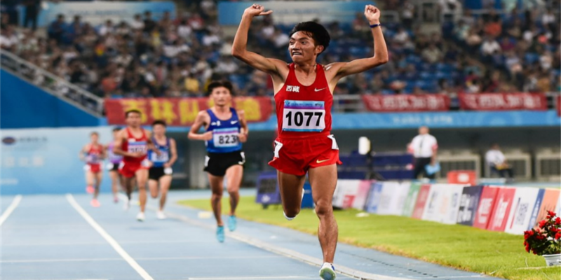 Tibetan Shepherd Boy Running Olympic Gold Dream