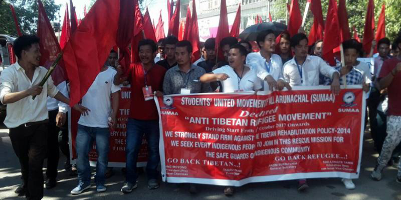 Study Body Rallies Against Tibetan Refugees In Arunachal Pradesh