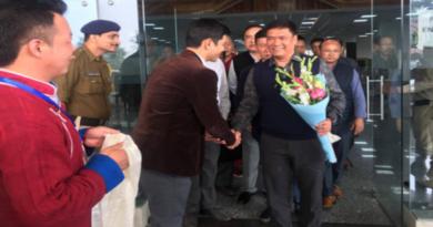 Arunachal CM Pema Khandu Arrives In Dharamshala