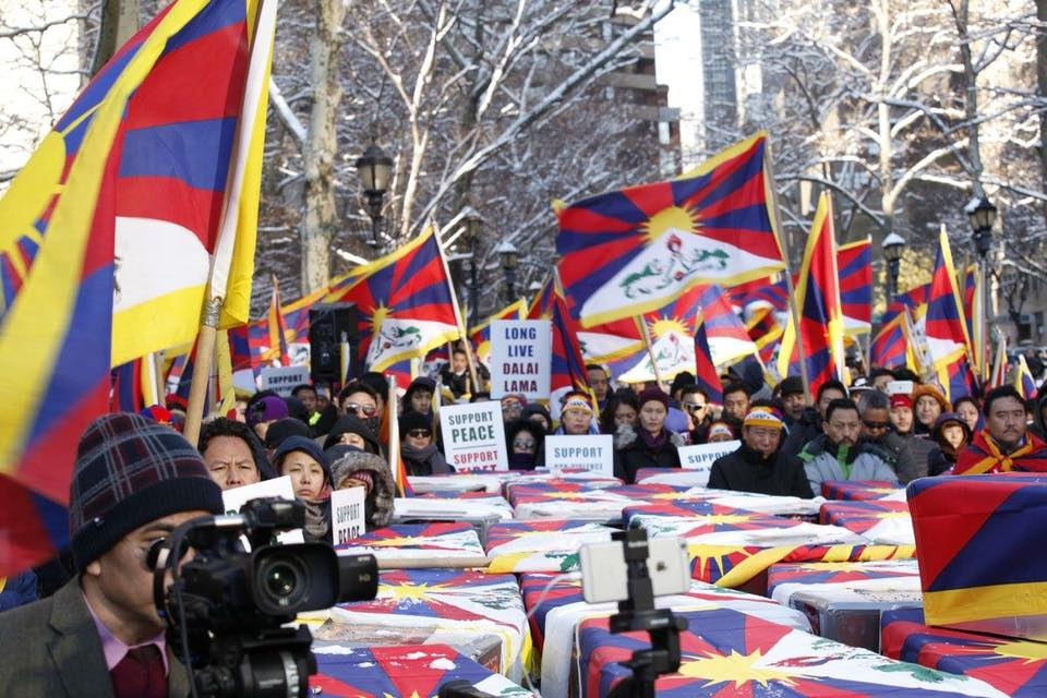 The rally expressed solidarity to the Tibetan self immolators