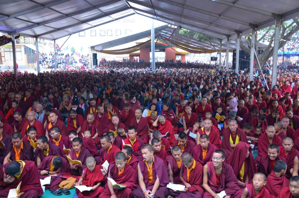 Audience At the Hayagriva Initiation by His Holiness the Dalai Lama