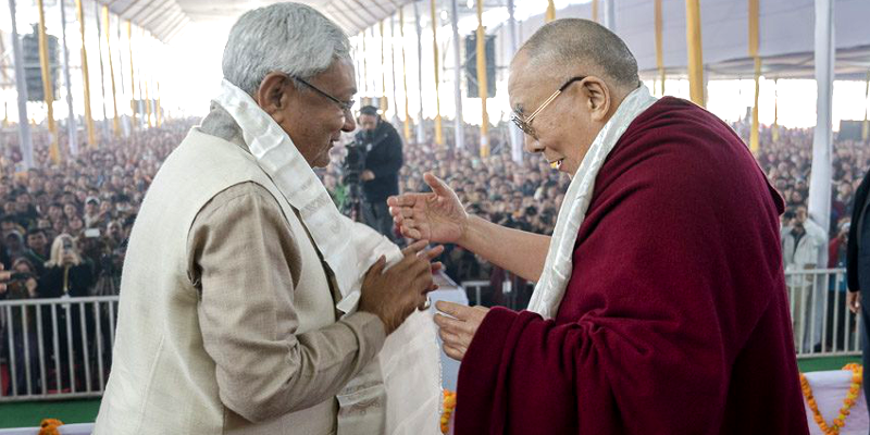 Bihar CM Nitish Kumar Seeks Dalai Lama Blessings For State's Welfare