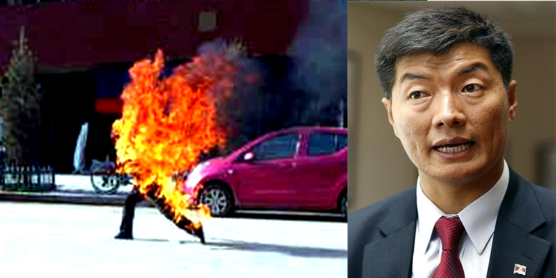 China's Repressive Policies Cause of Tibetan Self Immolations: President Sangay