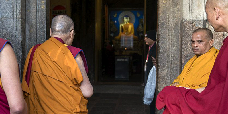 The Tibetan spiritual leader His Holiness the Dalai Lama has completed his longest sojourn at the holy site of Bodh Gaya on Sunday and left for New Delhi according the official website of his office. His Holiness left from the holy site after almost a month long stay and he is scheduled to go under medical tests before leaving fro Dharamshala.