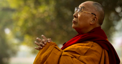 Dalai Lama Takes Part in Prayers by Bodhi Tree in Gaya