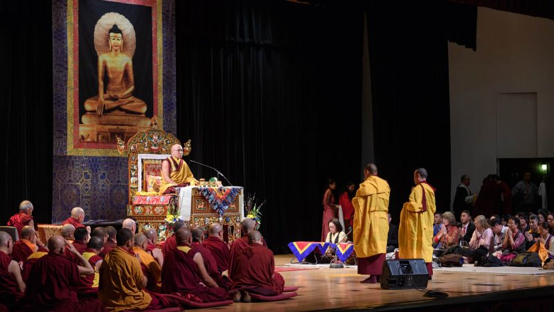 The Gyalwang Karmapa Gives a Longevity Empowerment at Colden Auditorium at Queens College, Flushing, New York