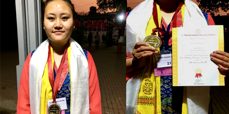 Tibetan Girl Awarded Gold Medal at Indian University