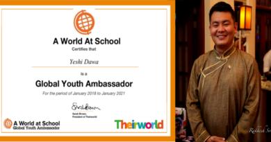Tibetan Youth Selected to Global Youth Ambassadors for Tibet