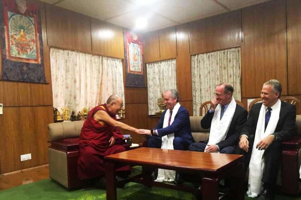 Louisville and Anaheim mayor at the Dalai Lama Residence in India