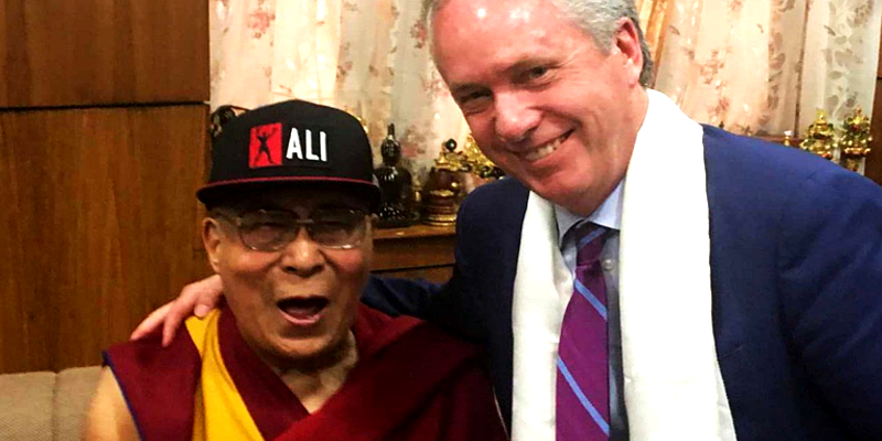 Two US Mayors Called Upon Dalai Lama in India