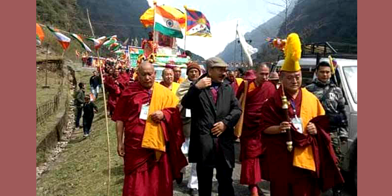 A March Begins in Tawang to Mark 60th Year of Dalai Lama's Journey to India