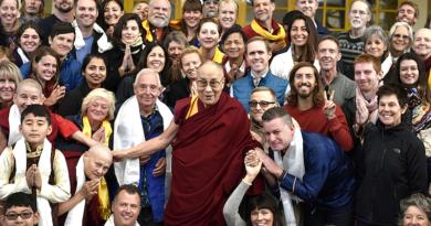 Dalai Lama Meets Foreigners Visiting Dharamshala