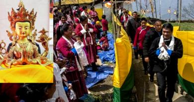Dalai Lama's Sacred Gift Installed in Tawang Village