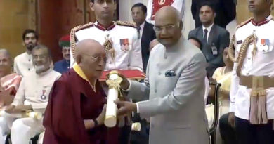 Dr. Yeshi Dhonden Receives Padma Shri from President of India