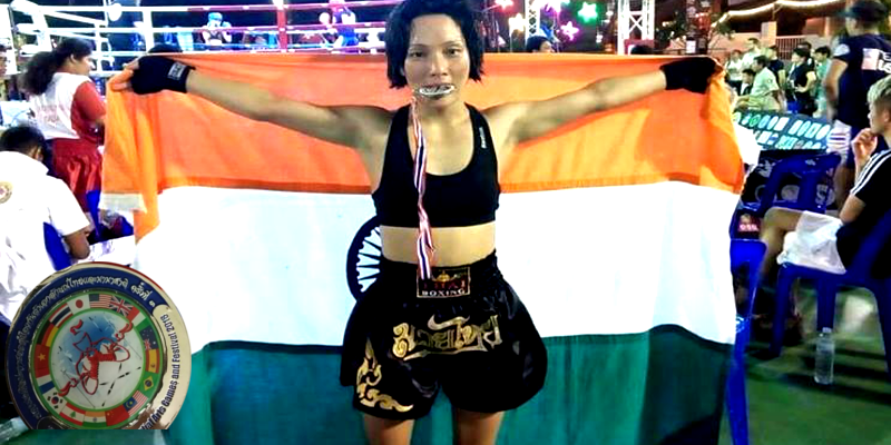 Tibetan Girl Wins Double Silver Medal for India in Kickboxing
