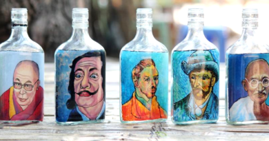 Burmese Man Paints Dalai Lama, Others Inside Bottles