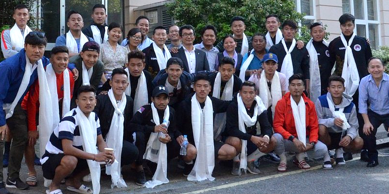 The squad of Tibetan national men's football team has arrived in London ahead of beginning of the upcoming tournament of the Paddy Power World Football Cup 2018 earlier this week organized by the Confederation of Independent Football Associations (CONIFA). CONIFA officially welcomed Team Tibet with a tweet on its official Twitter handle on Wednesday.
