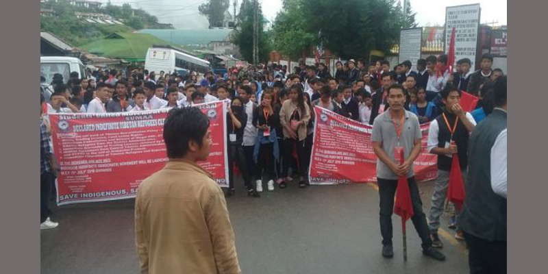 Arunachal Student Group Holds Rally Against Tibetan Refugees