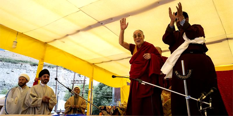 Dalai Lama Says Happy to Meet Brothers and Sisters in Kargil