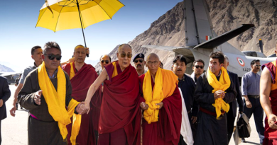 His Holiness the Dalai Lama Arrives in Nubra Valley