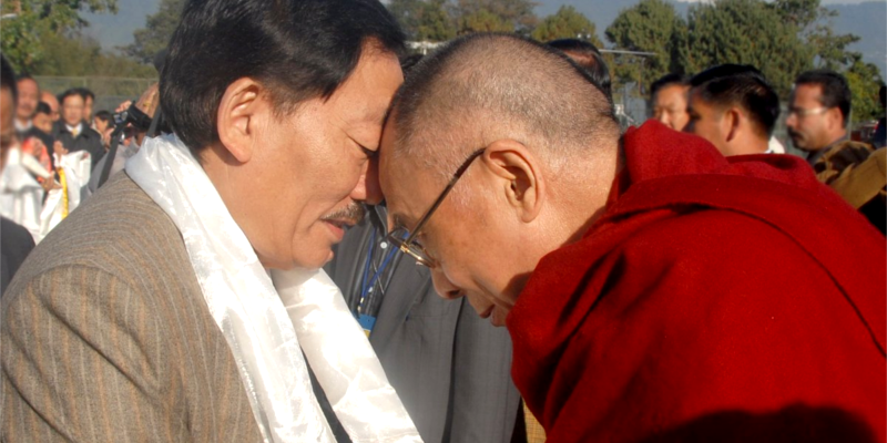 Sikkim CM Chamling Wishes 83rd Birthday to Dalai Lama