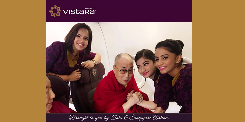 Tata's Vistara Airlines Feels Blessed to Fly Dalai Lama