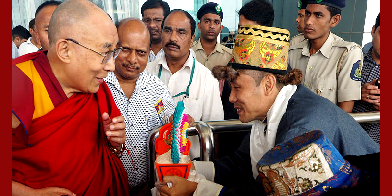 His Holiness the Dalai Lama Arrives in Goa
