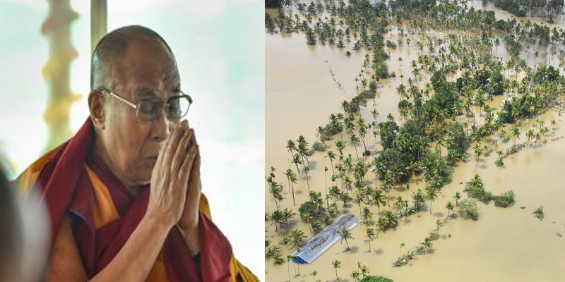His Holiness the Dalai Lama Offers Aid to Kerala Flood Victims