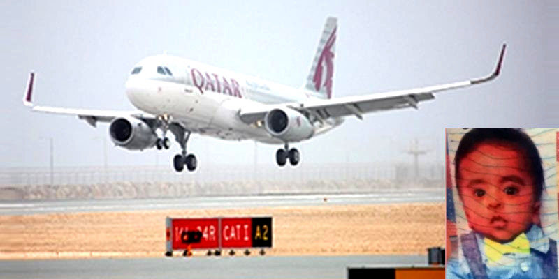 11 Month Old Baby Dies on Qatar Airways Flight to Hyderabad