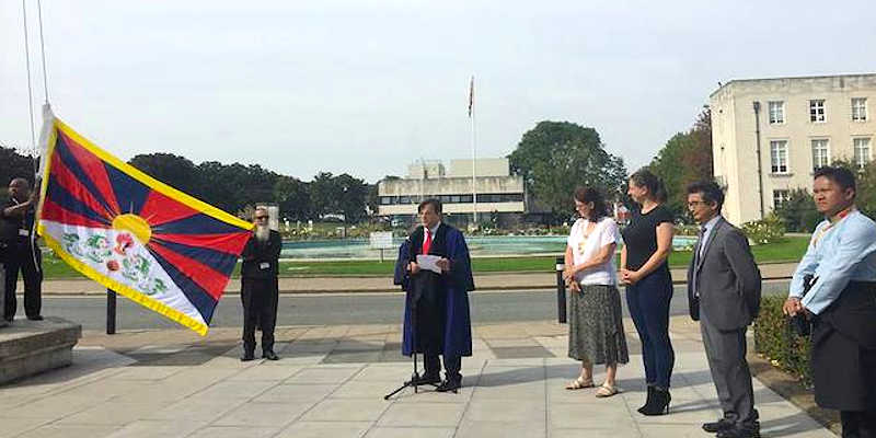 A Town Hall in London Hoists the Tibetan Flag for the First Time