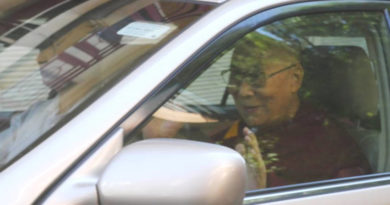 The Dalai Lama Returns to Dharamshala from Europe Tour