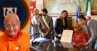 Tibetan Buddhist Master Award Italy's Highest Honour