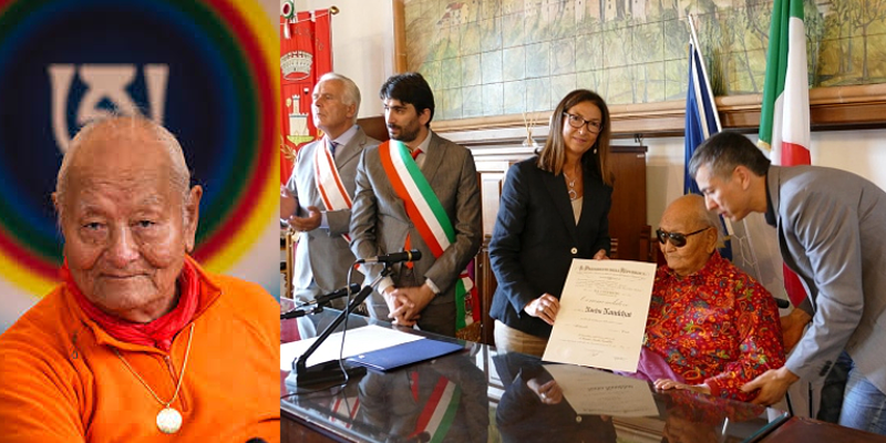 Tibetan Buddhist Master Award Italy's Highest Honour