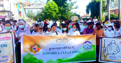 Tibetans Hold Cleanliness Drive Across India on Gandhi Jayanti