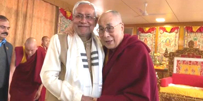 Bihar CM Nitish Kumar Visits His Holiness the Dalai Lama in
