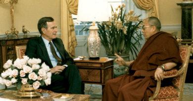 Dalai Lama Condoles Death of Former US President, George H.W. Bush