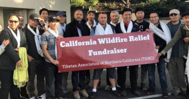 Tibetan Association Raised $7K for California Wildfire Relief